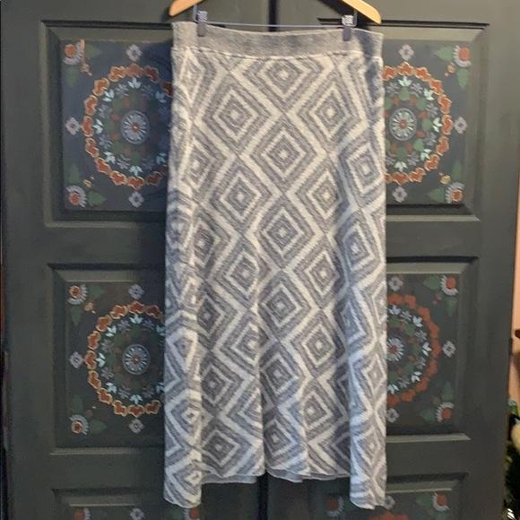 Gorgeous Anthro Moth Diamond Knit Maxi Skirt